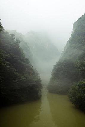 襄阳保康县五道峡景区峡谷