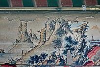 远山石柱树木云雾仙境
