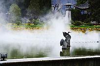 广场上的喷泉