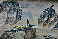 宝塔寺山脊远山云雾