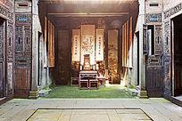 徽州古建筑的厅堂摆设