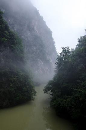 襄阳保康县五道峡景区的峡谷