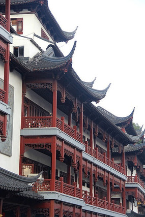 豫园吊角楼