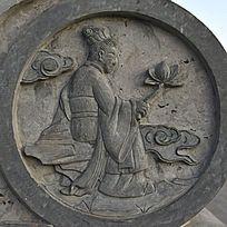 何仙姑石头雕刻