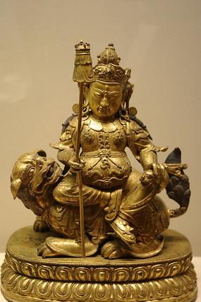 鎏金铜财宝天王坐像