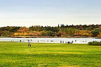 秋天的奥体公园