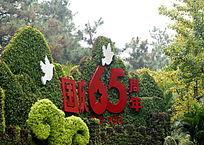 园艺国庆65周年绿植白鸽子