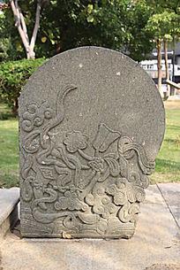 传统花纹浮雕石块