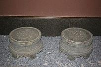 传统花纹青石圆凳