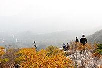 秋季户外登山