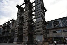 残旧工厂厂房