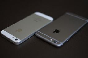苹果iphone5s和iphone6背面对比图片