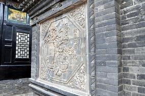 平遙墻壁雕刻花卉裝飾