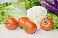 摆拍蔬菜水果特写图片