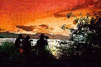 日出风景画