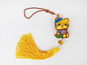 黄色招财猫