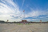 北京天安门广场国旗飘扬