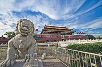 北京天安门前石狮子