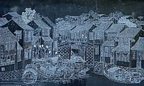 苏州石路曾经繁华时代的手绘画