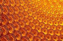 莲花座背景图案 橙色
