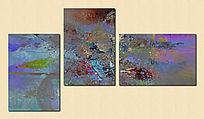 油画抽象 涂鸦 无框画