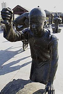 盖章人物雕塑