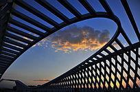 彩霞 北京市昌平区未来科学城大桥