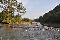 九曲溪流动的水