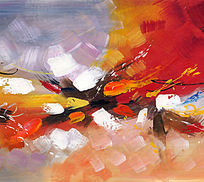 抽象画图片 手绘油画