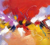 抽象 手绘 油画