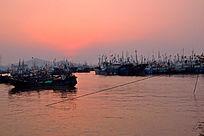 渔都海上日出红日升出