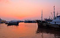 渔都海上日出红日升起