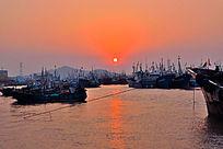 渔都海上日出金日映海