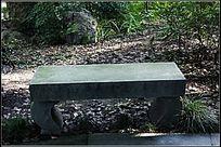 长满青苔的石凳