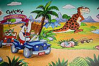 卡通动物宣传画