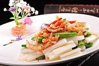 碧绿虾干炒藕条