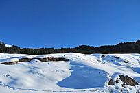 石河子雪山盆地