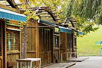 实木建筑复古怀旧山林草房