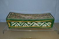 磁州窑彩色釉陶划花鸟纹枕