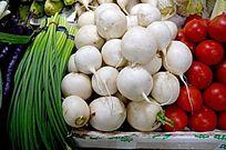 新鲜蔬菜 元萝卜 白萝卜
