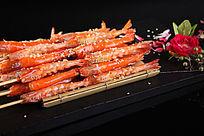 碳烤基围虾