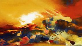 抽象画 无框画 现代装饰油画
