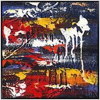 高清无框抽象油画