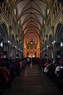 上海徐家汇天主教堂内景