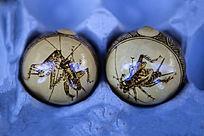 昆虫图案葫芦烙画
