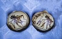 蟋蟀图案葫芦烙画