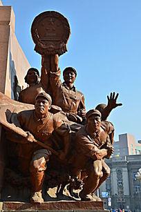 冲锋人物雕塑
