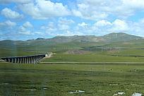 西藏蓝天白云大草原大气山川