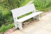 公园石板长椅凳子