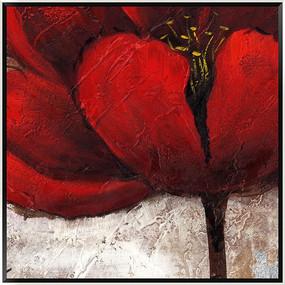 无框画 花卉 油画